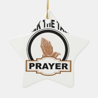 Ornamento De Cerâmica fale a oração da conversa yeah