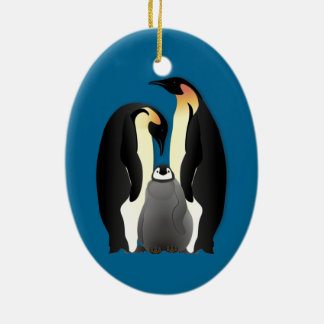 Ornamento De Cerâmica família do pinguim