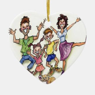 Ornamento De Cerâmica Família feliz