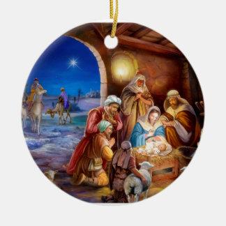 Ornamento De Cerâmica Família santamente