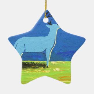Ornamento De Cerâmica Fanfarrão azul