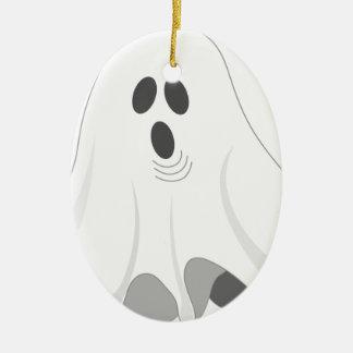 Ornamento De Cerâmica Fantasma do Dia das Bruxas - VAIA!