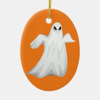 Ornamento De Cerâmica Fantasma feliz do Dia das Bruxas
