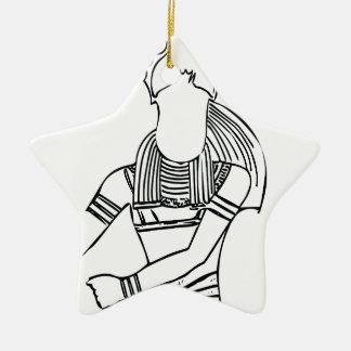 Ornamento De Cerâmica Faraó 1 do escaravelho