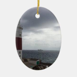 Ornamento De Cerâmica Farol de Gibraltar
