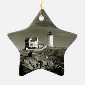 Ornamento De Cerâmica Farol em Maine