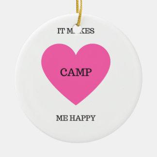 Ornamento De Cerâmica Faz-me o acampamento feliz