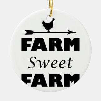 Ornamento De Cerâmica fazenda doce da fazenda