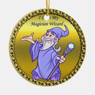 Ornamento De Cerâmica Feiticeiro mágico do roxo do sorceress do mágico