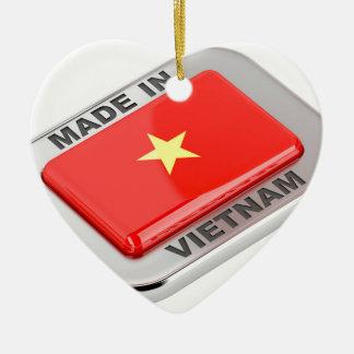 Ornamento De Cerâmica Feito no crachá brilhante de Vietnam