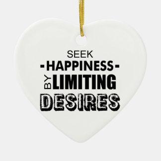 Ornamento De Cerâmica Felicidade da busca limitando desejos