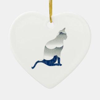 Ornamento De Cerâmica Felicidade felino