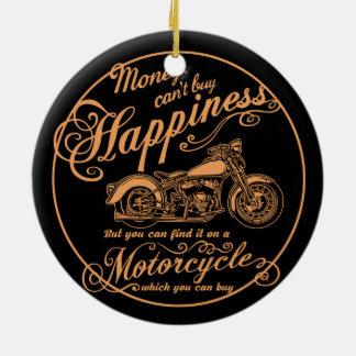 Ornamento De Cerâmica Felicidade - motocicleta