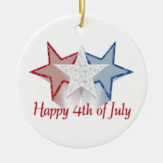 Ornamento De Cerâmica Feliz 4o julho