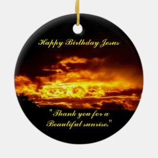 Ornamento De Cerâmica Feliz aniversario Jesus