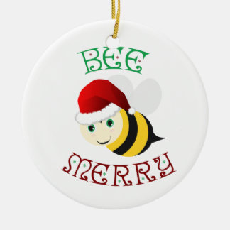 Ornamento De Cerâmica Feliz da abelha