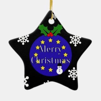 "Ornamento De Cerâmica ""Feliz Natal. À UE!"" Brexit Dble-Tomado partido"