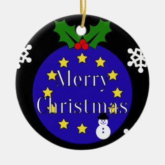 "Ornamento De Cerâmica ""Feliz Natal. À UE!"" Brexit iDble-tomou partido"