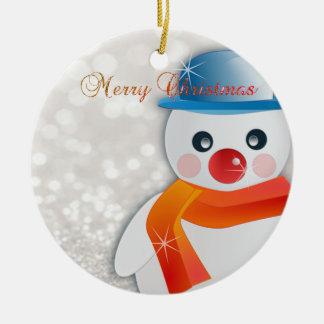 Ornamento De Cerâmica Feliz Natal adorável, árvore de Natal, boneco de
