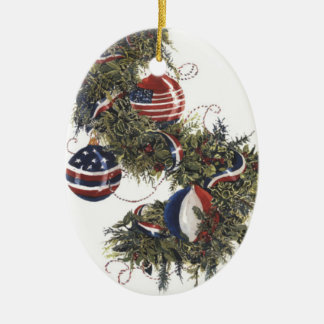 Ornamento De Cerâmica Feliz Natal, América!