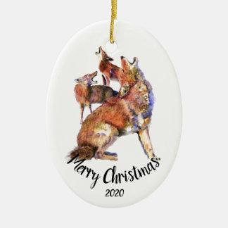 Ornamento De Cerâmica Feliz Natal datado feito sob encomenda dos chacais