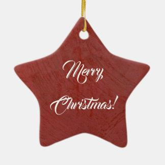 Ornamento De Cerâmica Feliz Natal! Emplastro Venetian vermelho italiano