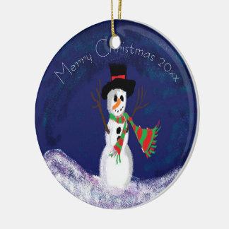 Ornamento De Cerâmica Feliz Natal personalizado