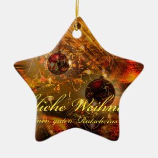 Ornamento De Cerâmica Feliz Natal uma escorregadela boa no ano novo