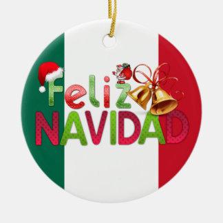 Ornamento De Cerâmica Feliz Navidad