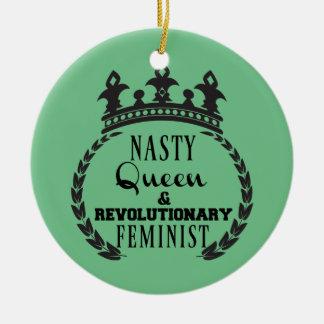 Ornamento De Cerâmica Feminista da rainha
