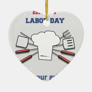 Ornamento De Cerâmica Feriado do Dia do Trabalhador