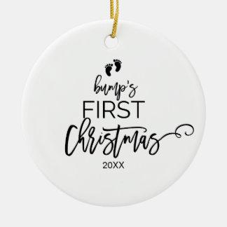 Ornamento De Cerâmica Feriado do Natal da colisão da árvore de Natal