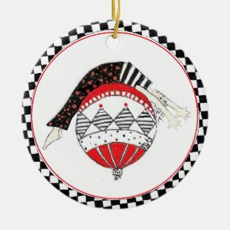 Ornamento De Cerâmica Feriado equilibrado saudável feliz de Pilates