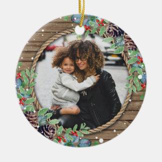 Ornamento De Cerâmica Feriado feito sob encomenda do Natal da foto de
