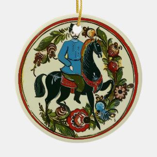 Ornamento De Cerâmica Feriado feliz, cavaleiro de Escandinávia