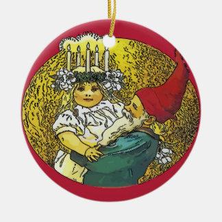 Ornamento De Cerâmica Feriado feliz, Escandinávia