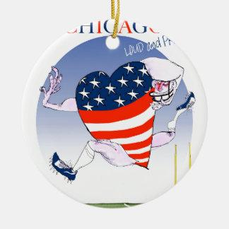 Ornamento De Cerâmica Fernandes tony altos e orgulhosos de Chicago,