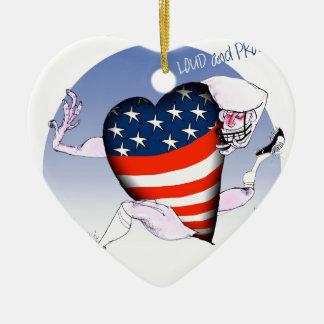 Ornamento De Cerâmica Fernandes tony altos e orgulhosos de Washington,