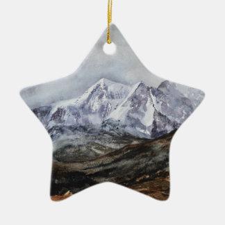 Ornamento De Cerâmica Ferradura de Snowdon em Winter.JPG
