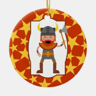 Ornamento De Cerâmica Festa de aniversário do menino do guerreiro de