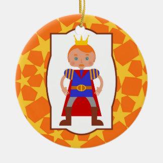 Ornamento De Cerâmica Festa de aniversário do menino do príncipe