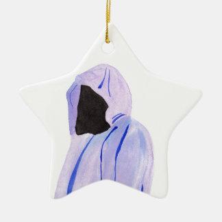 Ornamento De Cerâmica Figura Cloaked
