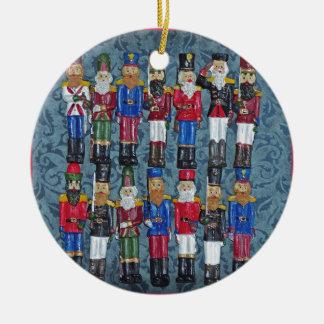 Ornamento De Cerâmica Figuras do natal vintage, soldados idosos