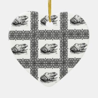 Ornamento De Cerâmica fileiras dos sapos