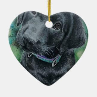 Ornamento De Cerâmica Filhote de cachorro bonito
