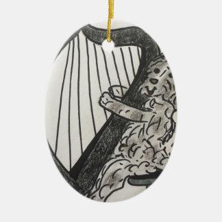 Ornamento De Cerâmica Filhote de cachorro da harpa