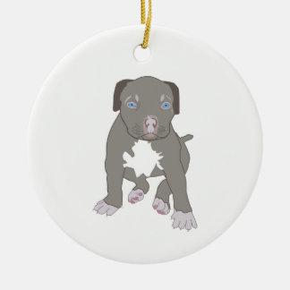 Ornamento De Cerâmica Filhote de cachorro de Pitbull