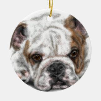 Ornamento De Cerâmica Filhote de cachorro do buldogue