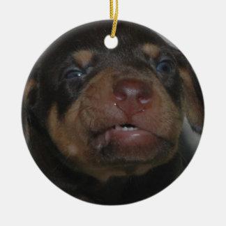 Ornamento De Cerâmica Filhote de cachorro do Doberman