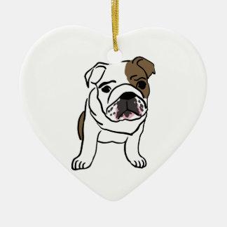 Ornamento De Cerâmica Filhote de cachorro inglês personalizado do